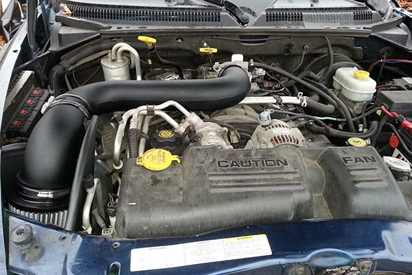 afe magnum cold air intake installed on 2003 dodge dakota