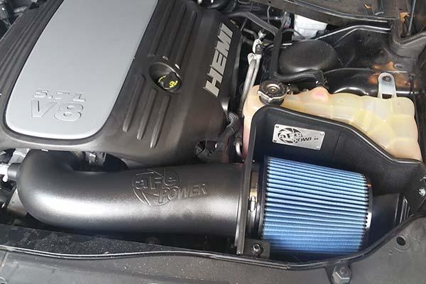 afe magnum air intake installed on 2013 dodge charger