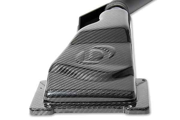 dinan cold air intakes carbon fiber logo detail