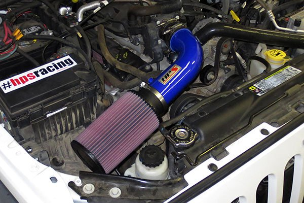 hps performance short ram air intakes installed blue