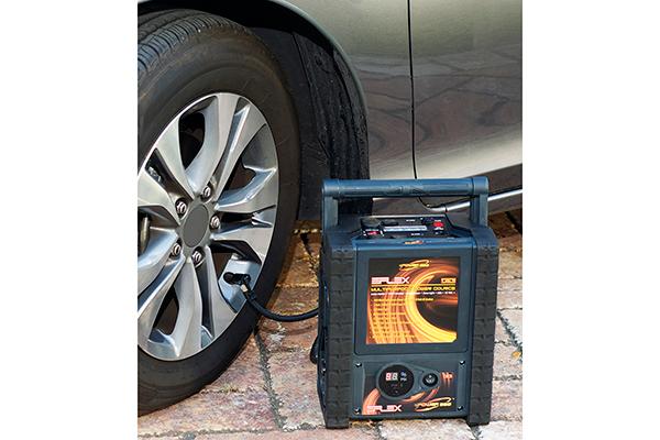 epower360 eflex portable jump starter car tire