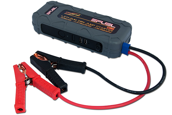 epower360 efuel jump pack portable jump starter cables connected