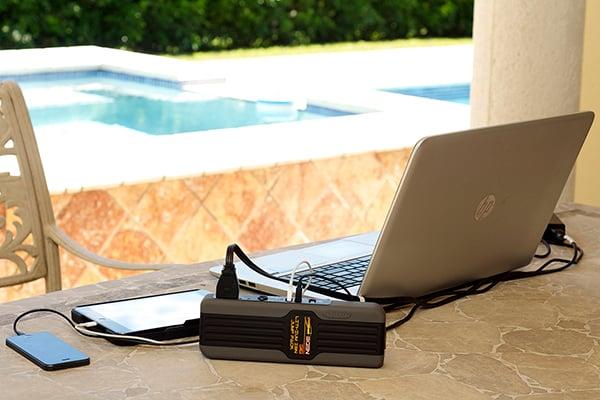 epower360 egen jump pack portable jump starter charge laptop