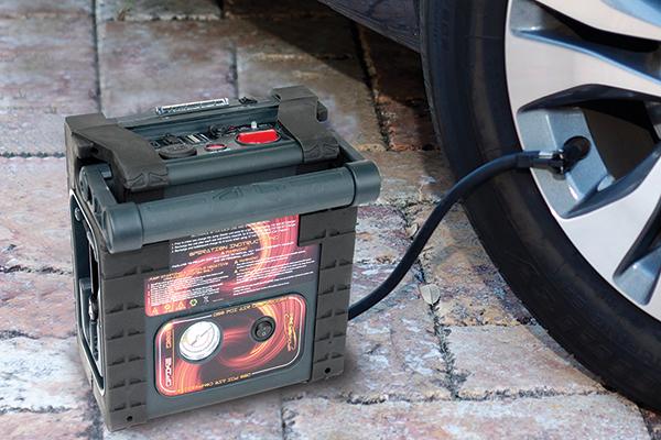 epower360 spike portable jump starter inflate car tire