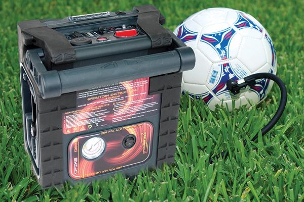 epower360 spike portable jump starter soccer ball inflate
