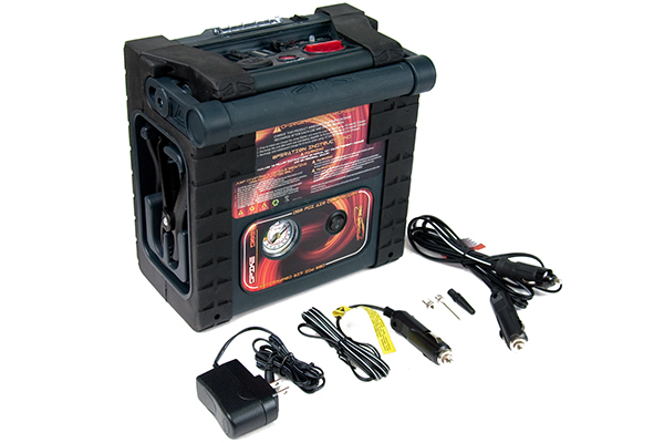 epower360 spike portable jump starter view with accessories