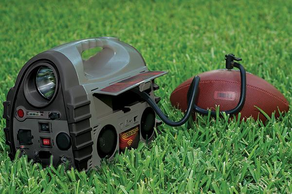 epower360 volta portable jump starter inflate football