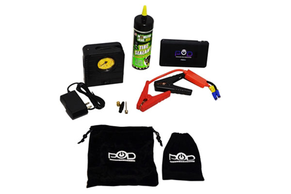 pod etrack emergency tire repair and air compressor kit r1
