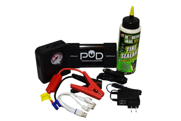 pod etrack emergency tire repair and air compressor kit r3