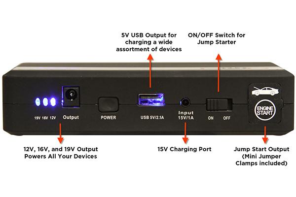 pod x5 jump pack portable jump starter features