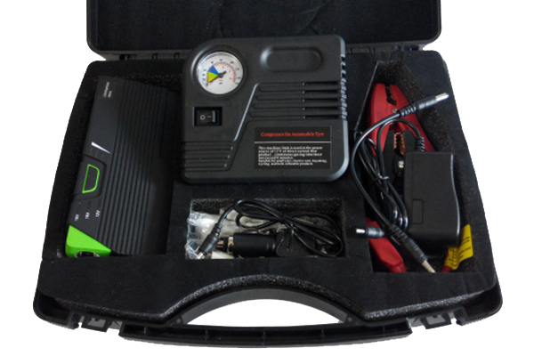 pro z portable jump start kit with air compressor in case