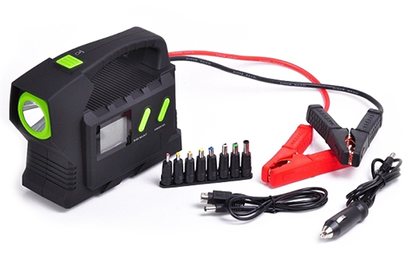 pro z portable jump start kit with led flashlight with cables
