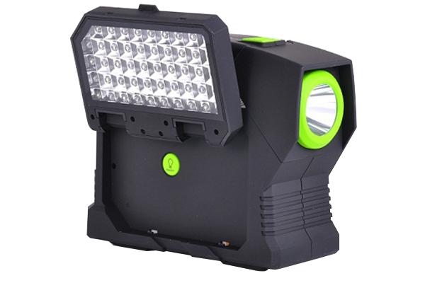 pro z portable jump start kit with led flashlight with led light open