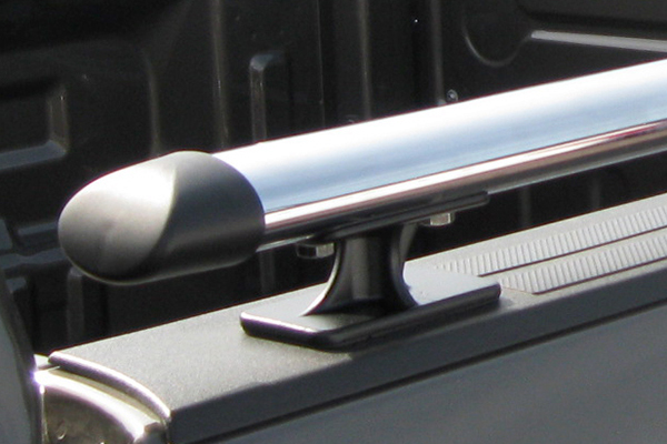 luverne oval bed rails mount and cap closeup