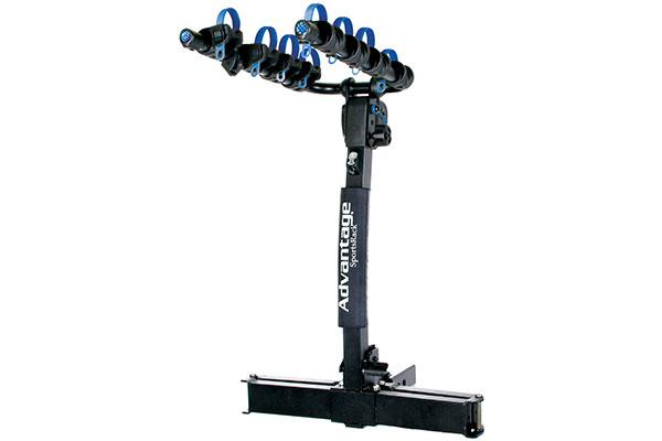 advantage sports rack glideaway2 hitch mount bike rack rel1