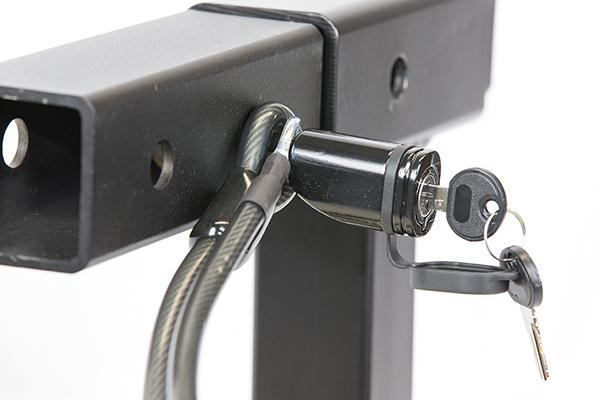 advantage sportsrack bike rack to vehicle dual lock assembly detail