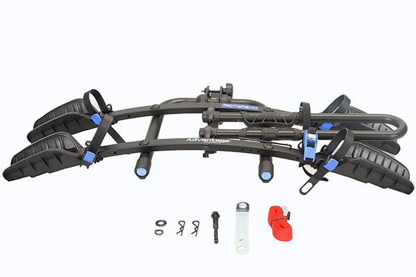 advantage sportsrack flatrack hitch mount bike rack kit includes