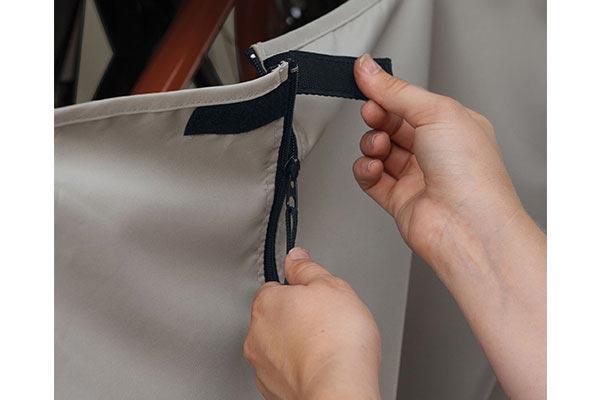 classic accessories deluxe bike cover closure