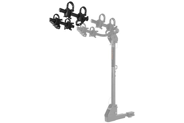 curt extendable hitch mounted bike rack extendable
