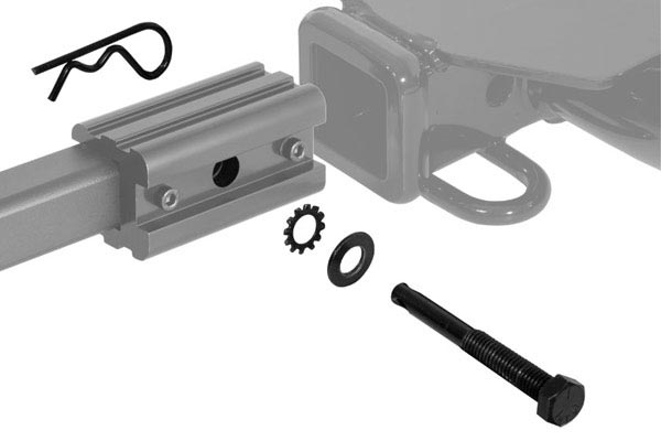 curt extendable hitch mounted bike rack hitch