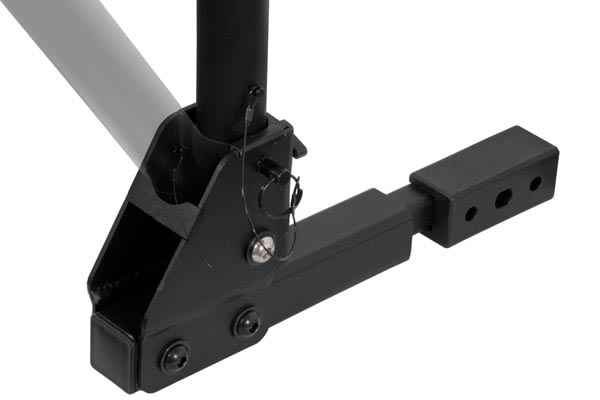 curt extendable hitch mounted bike rack swing arm