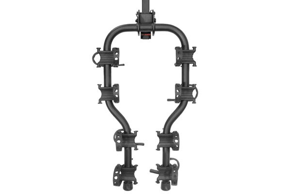 curt premium hitch mounted bike racks top view