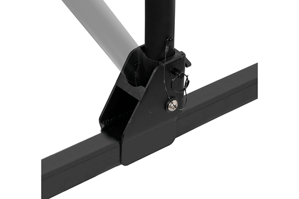 curt towable hitch mount bike rack folds for cargo access