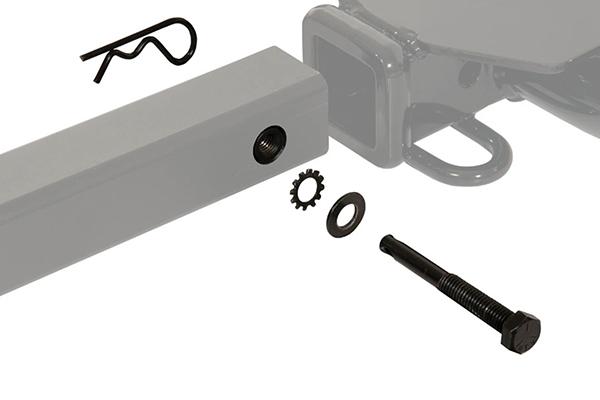 curt towable hitch mount bike rack hitch bolt