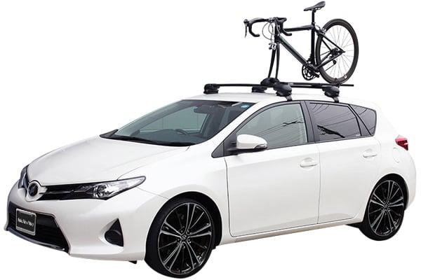 inno t slot fork lock bike rack for aero base on vehicle