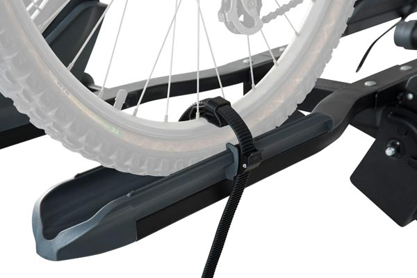 rhino rack dual trekker platform hitch mount bike rack tire strap