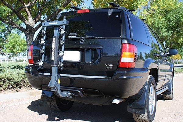 rhino rack hitch mounted 4 bike carrier fold down