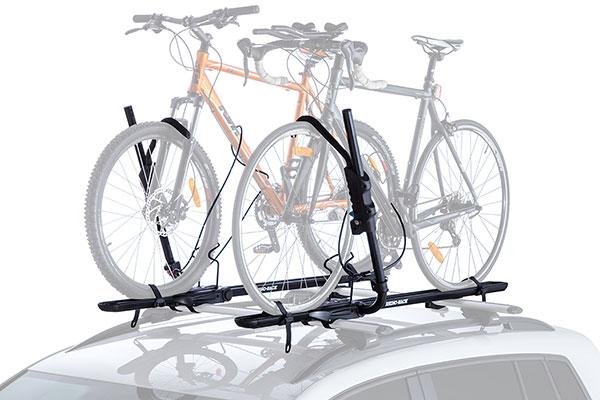 rhino rack roof mount hybrid bike rack bikes installed