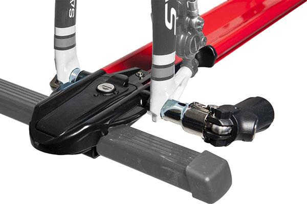 rockymounts jetline roof mount bike rack detail