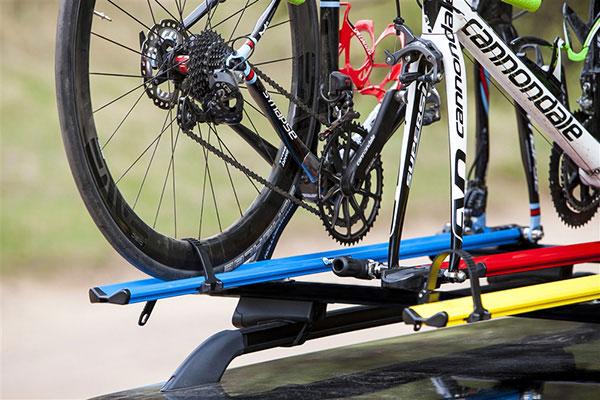 rockymounts jetline roof mount bike rack installed