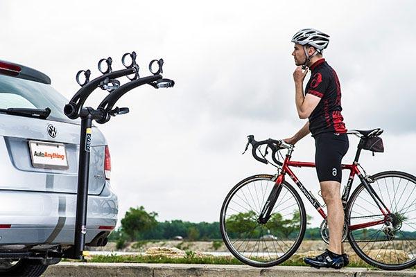 saris axis steel hitch mount bike rack biker
