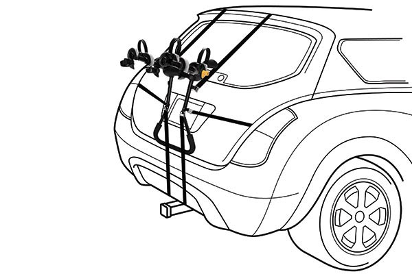 saris bike porter trunk mount bike rack on car