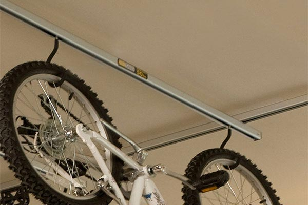 saris cycle glide ceiling mount bike storage add on