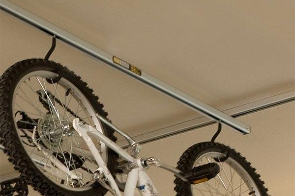saris cycle glide ceiling mount bike storage add on