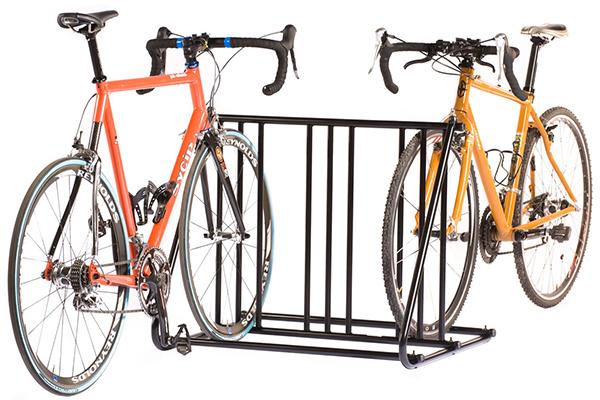 saris mighty mite bike parking rack with bikes
