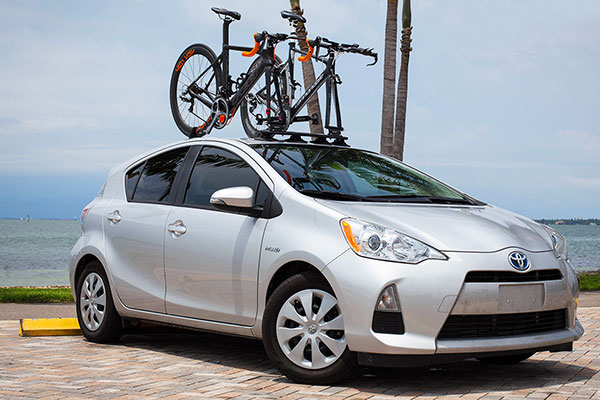 seasucker mini bomber bike rack prius lifestyle