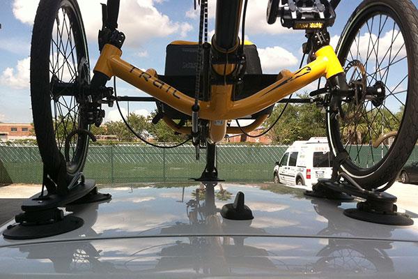 seasucker trike bike rack rear installed