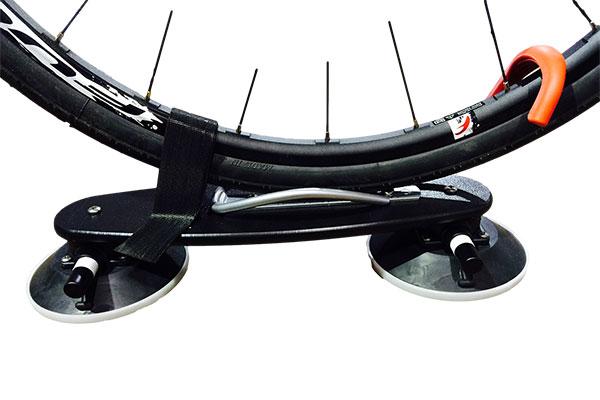 seasucker trike bike rack rear wheel installed