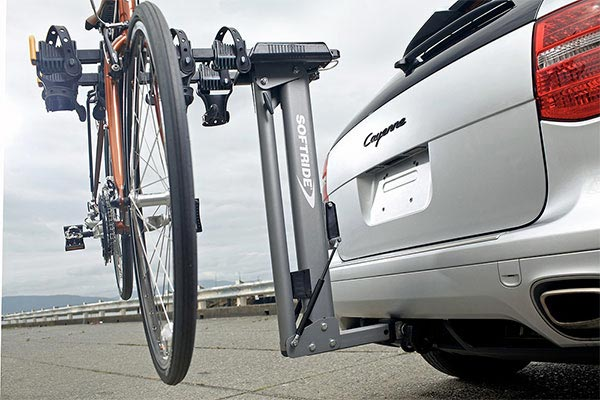 softride dura hydraulic assist bike rack in use close up