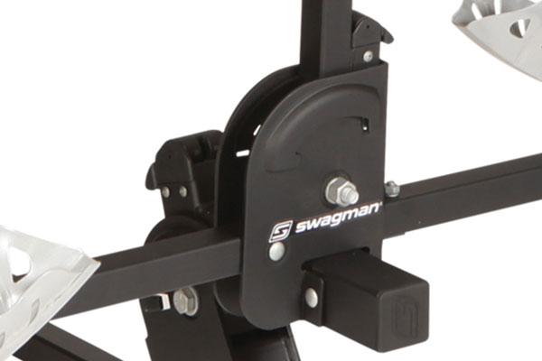 swagman chinook hitch mount bike rack swing arm