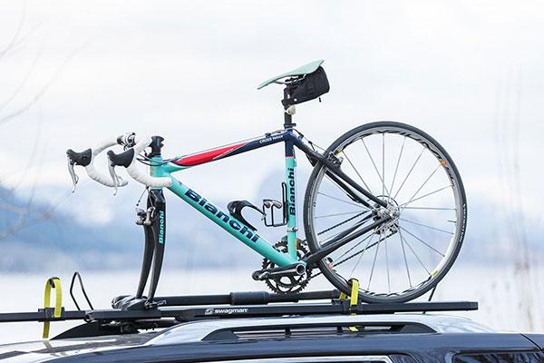 swagman enforcer roof mount bike rack lifestyle
