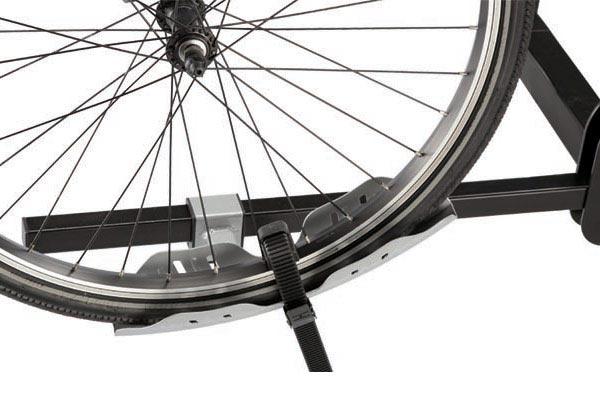 swagman quad platform bike rack tire strap detail