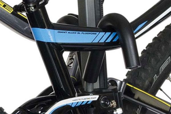 swagman trailhead hitch mount bike rack foam protects bike