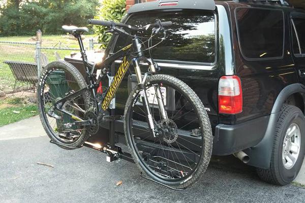 bike sportrack granite ip mounted tilt platform and lock rack gray hitch