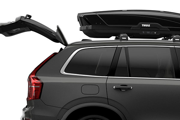 thule motion xt cargo box installed