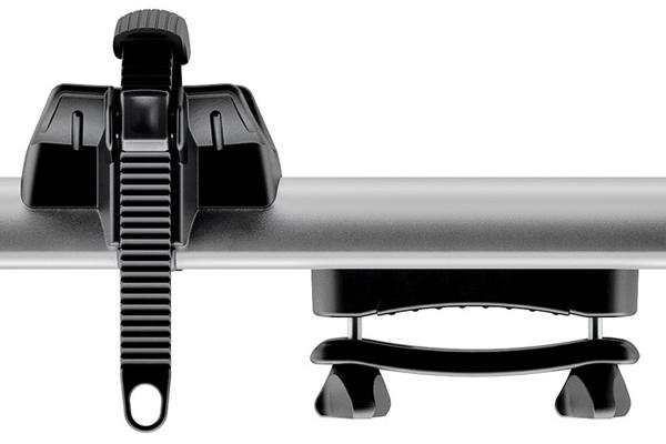 thule thruride 535 fork mount roof bike rack strap